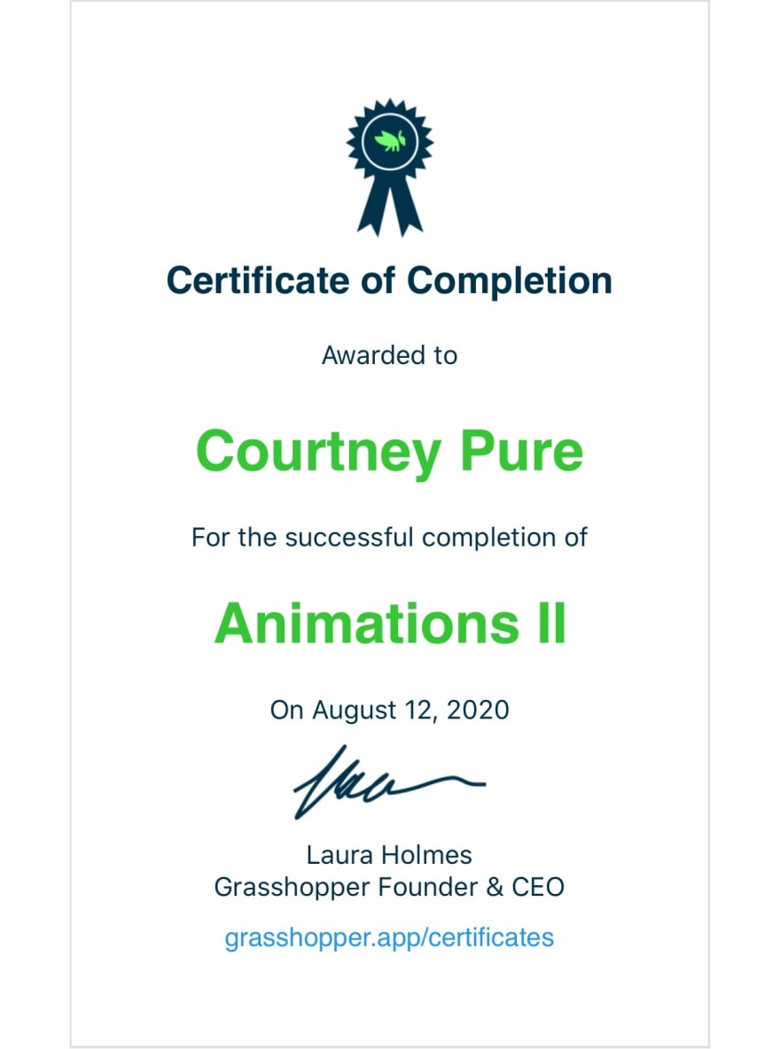 Certificate of Completion Animations 2 from Grasshopper
