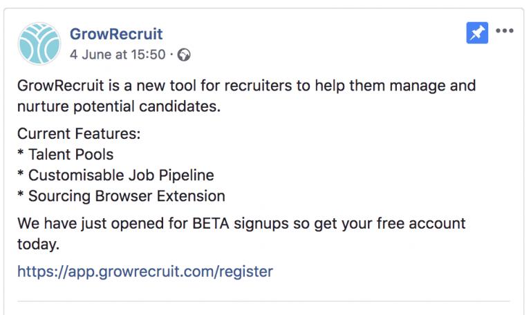 GrowRecruit Original Advert
