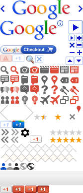 Screenshot of the old Google icons file as a spritesheet.
