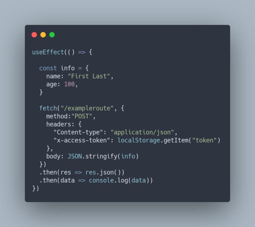 Fetch Request Example