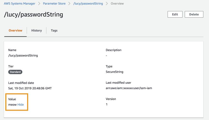 AWS SSM Parameter Store