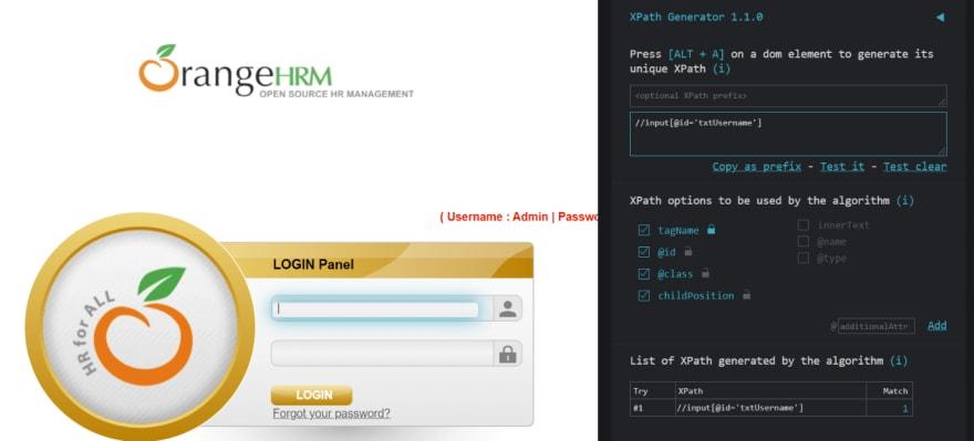 XPath Generator plugin