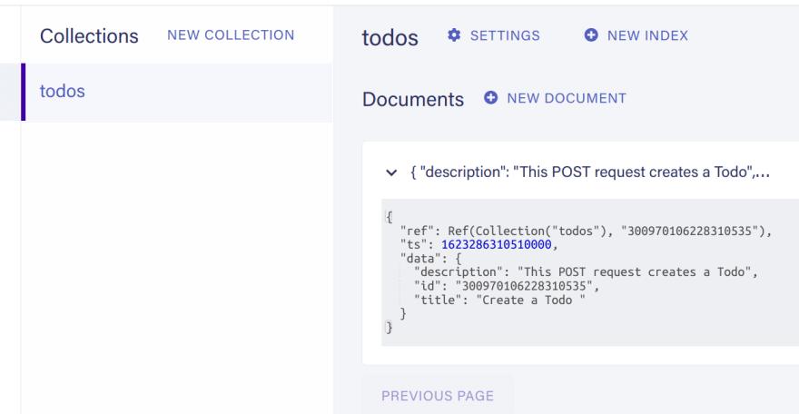 Created Todo document