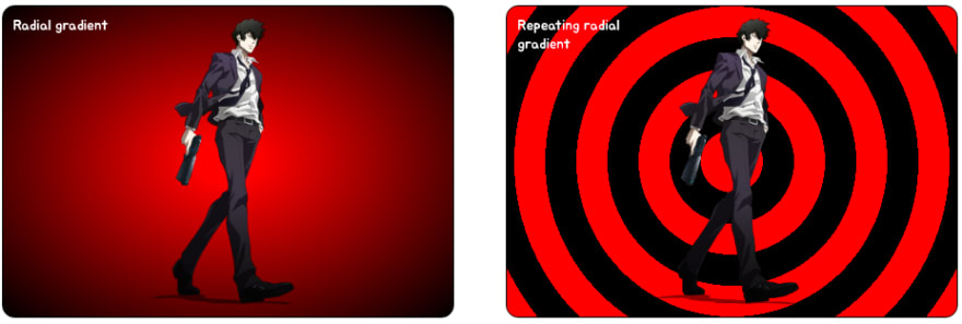 CSS Gradients - Radial and Repeating radial gradient