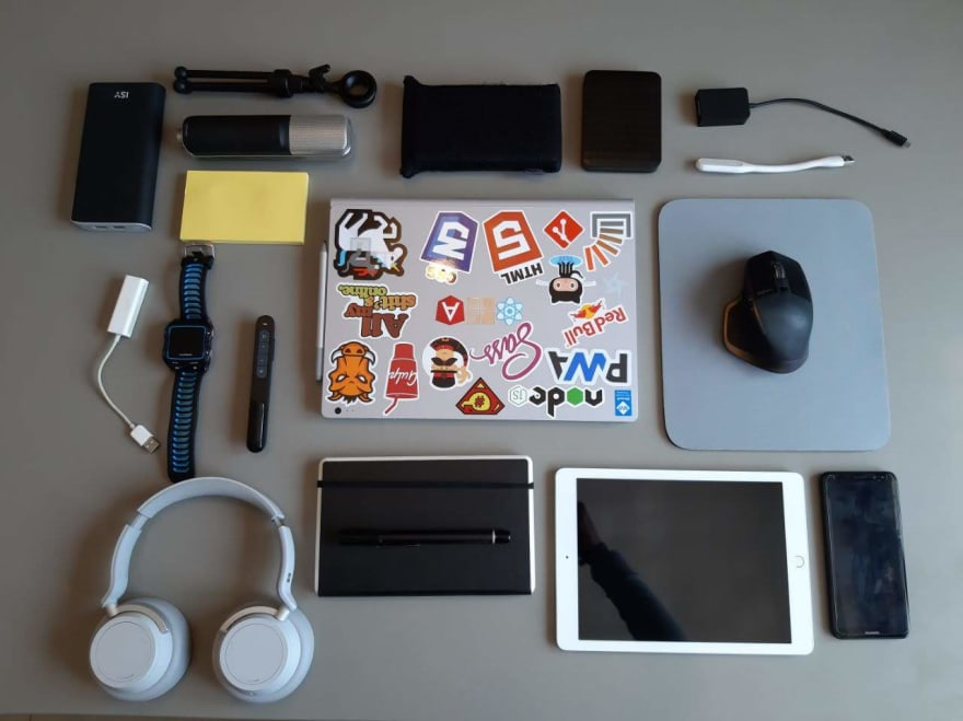 What's in my bag when I work away from home - DEV Community