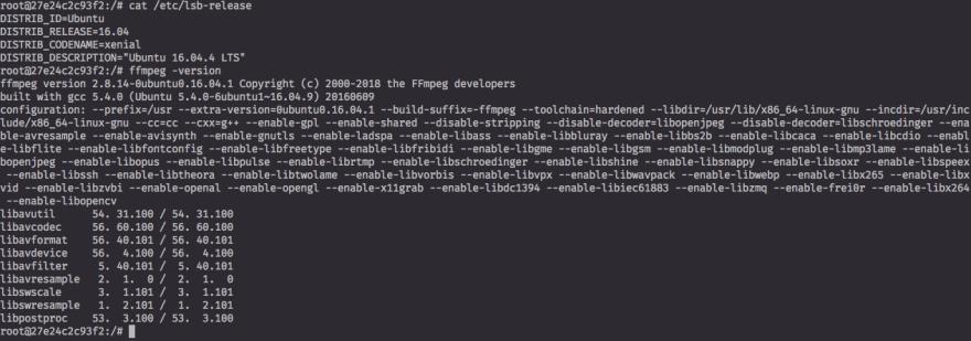 An image showing default ubuntu ffmpeg