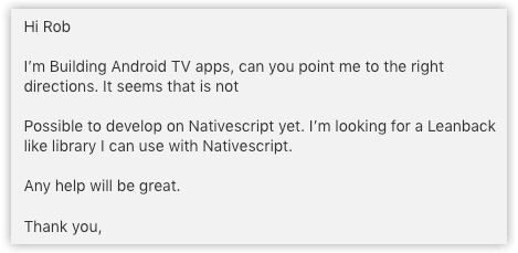 android tv request via intercom