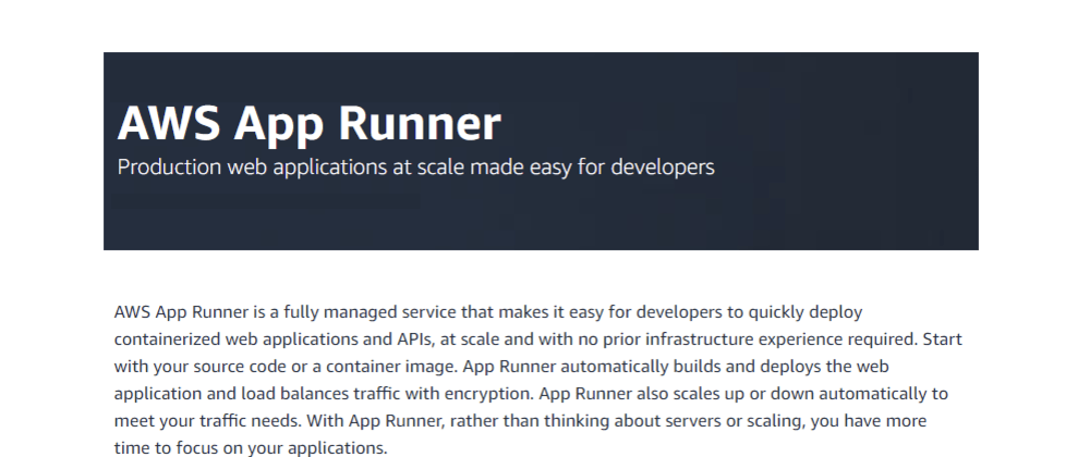 Cover image for AWS App Runner - initial thoughts