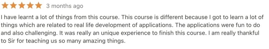 pythin mega course latest review April 2021