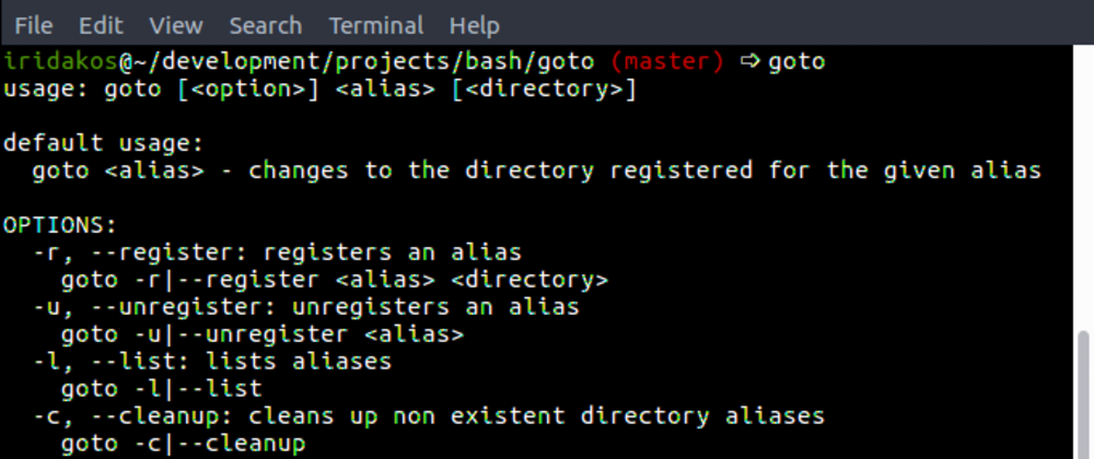 Cover image for goto - navigate to aliased directories