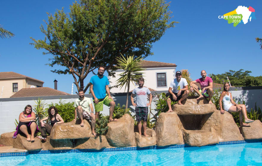 The Mobile Jazz team on a 2 month company retreat in Cape Town, South Africa.