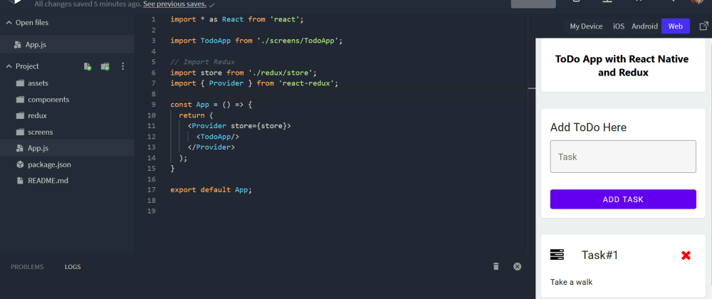 Cover image for A Beginners Guide/Tutorial to Redux with React Native and a Todo App