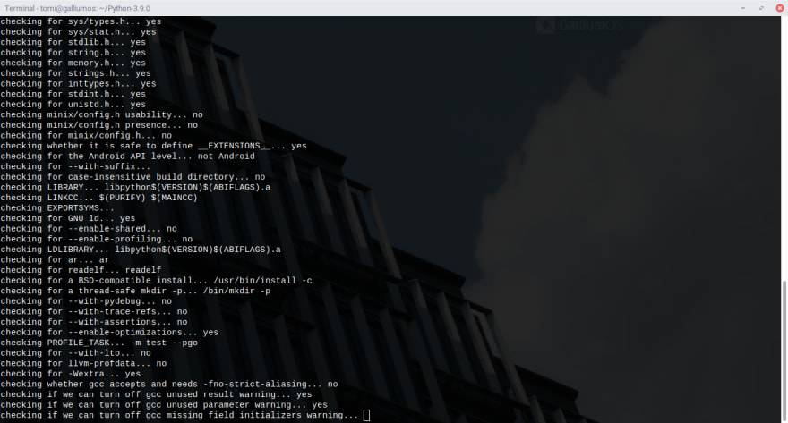 Image Of Python Configuring