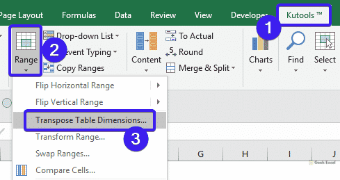 Transpose Table Dimensions