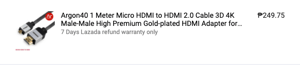 Micro HDMI product image