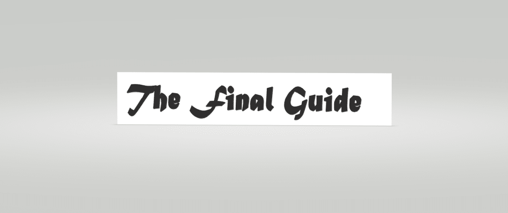 Cover image for The Final Guide Index