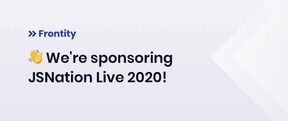 Cover image for We're sponsoring JSNation Live 2020