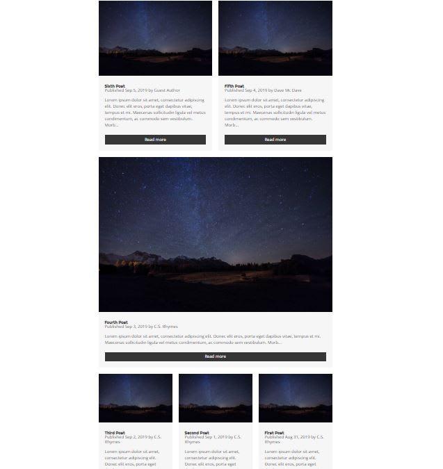 Mere Blog Theme homepage
