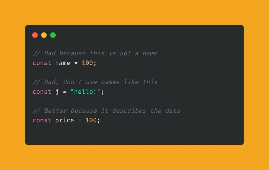 variable naming examples