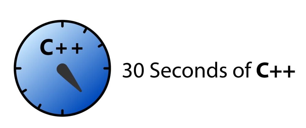 Cover image for 30 Seconds of C++