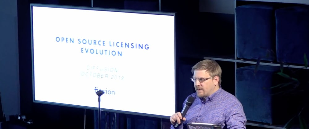 Cover image for Open Source Licensing Evolution at Diffusion 2019