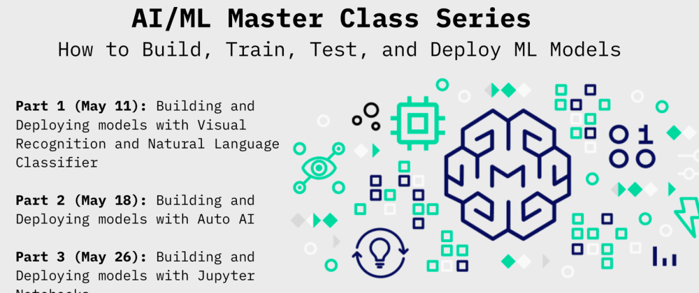 Cover image for Building, Training, Testing and Deploying ML Models in May