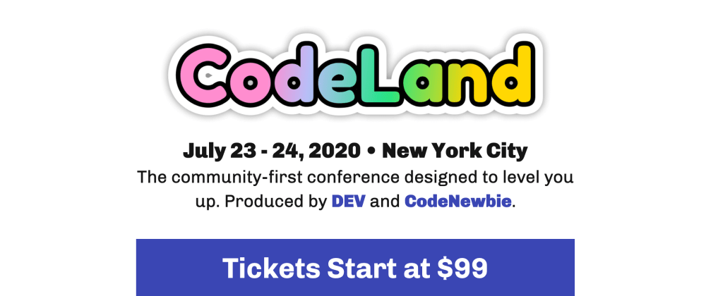 Cover image for CodeLand 2020 Early Bird Tickets