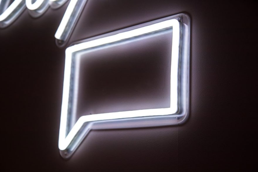Neon message icon