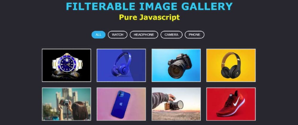 Cover image for Responsive Filterable Image Gallery using HTML, CSS & Javascript