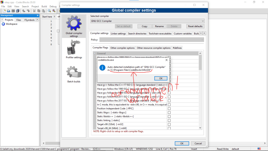 GNU GCC Compiler all setup using Environment Varaible