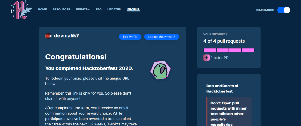 Cover image for WOW I COMPLETED HACKTOBERFEST