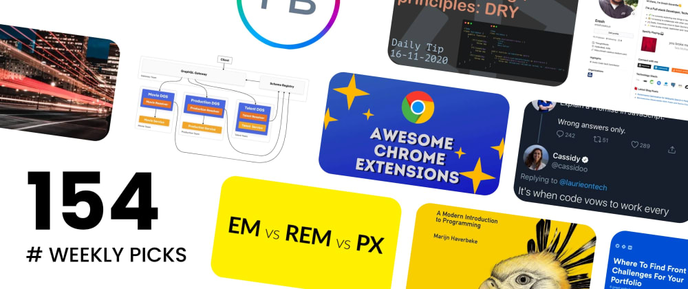 Cover image for 🔥 What's Hot in Web Development? — Weekly Picks #154