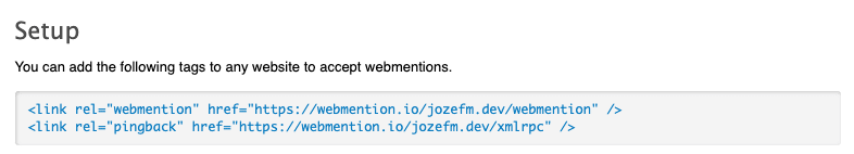 Webmention Pingback Links