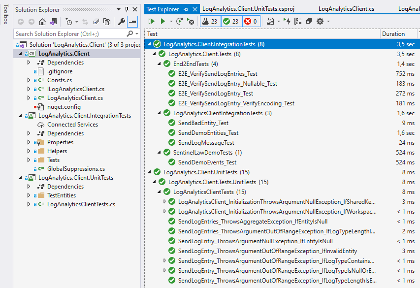 Introducing the LogAnalytics.Client NuGet for .NET Core