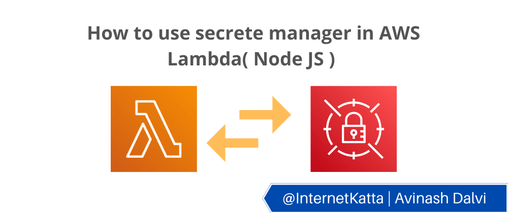 Cover image for How to use secrets manager in AWS Lambda( Node JS )