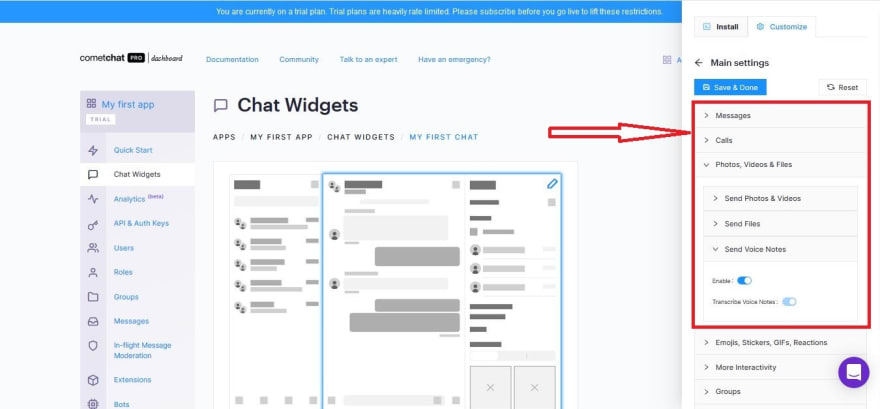 Enabling users to voice chat each other