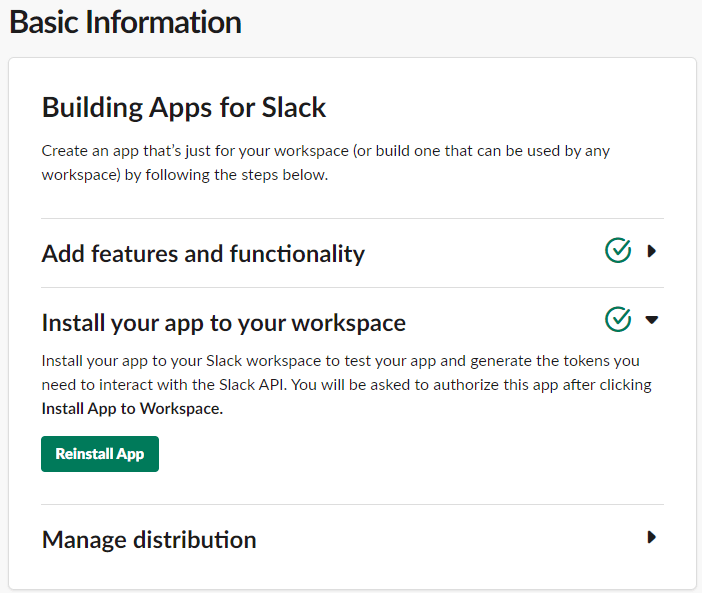Install Application to Slack Workspace