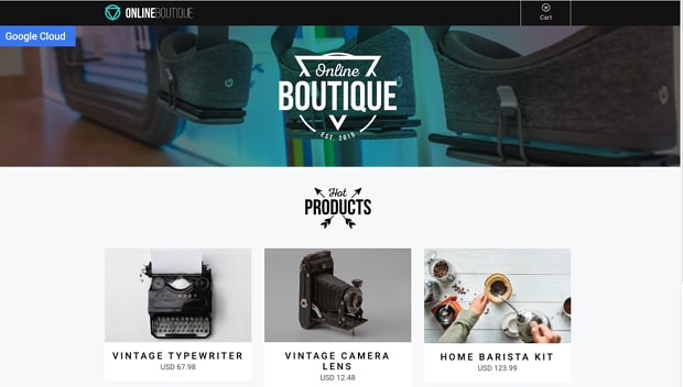 online boutique screen shot