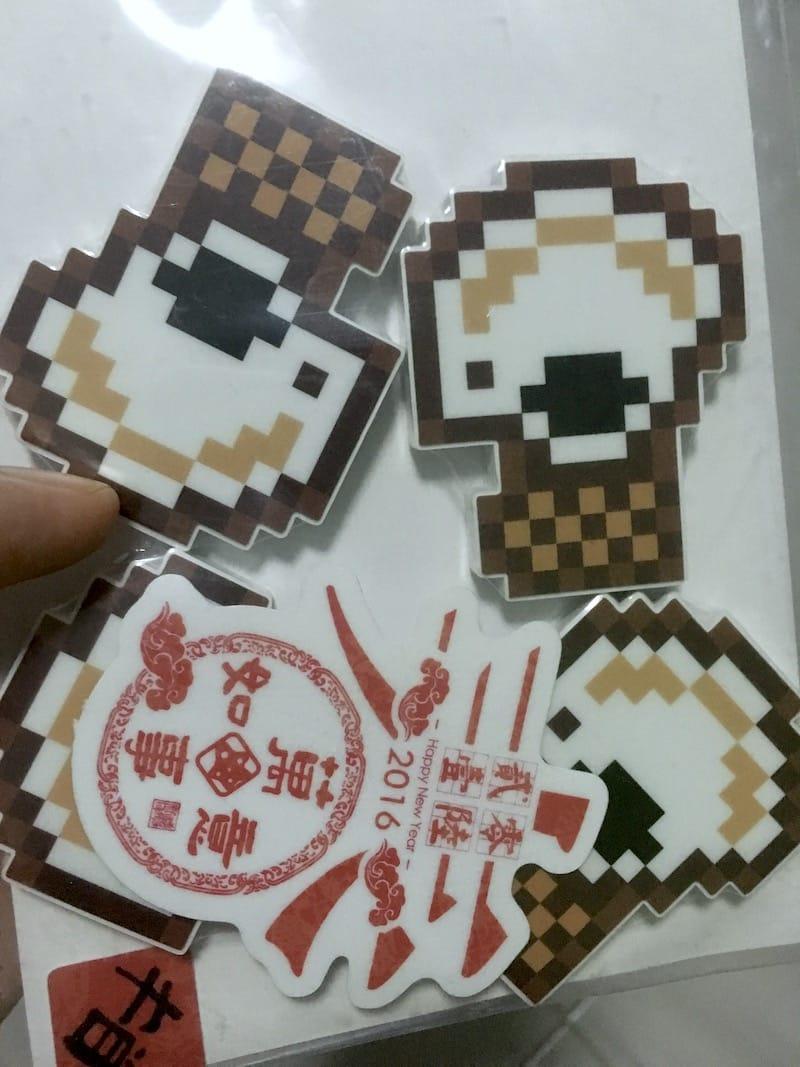 Pixelated KopiJS stickers, from StickerHD