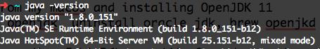checking version of java