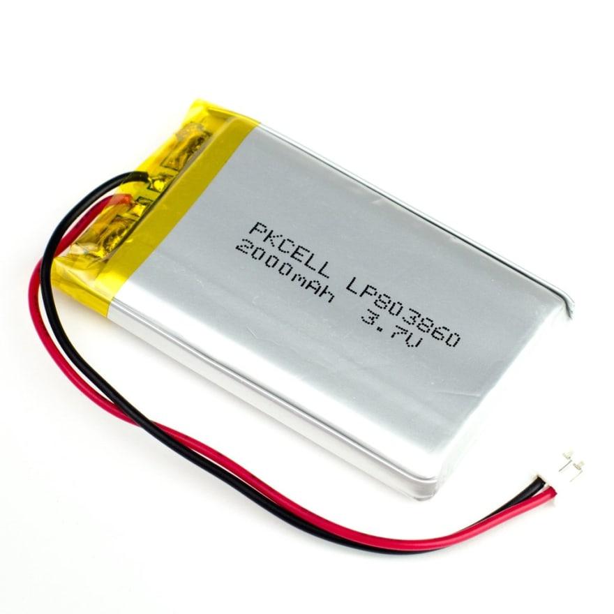 LiPo Battery — 3.7V 2000mAh