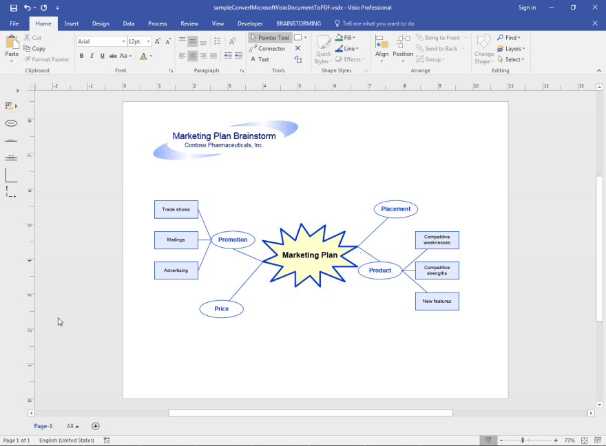 Convert Microsoft Visio Document to PDF in Java - DEV Community
