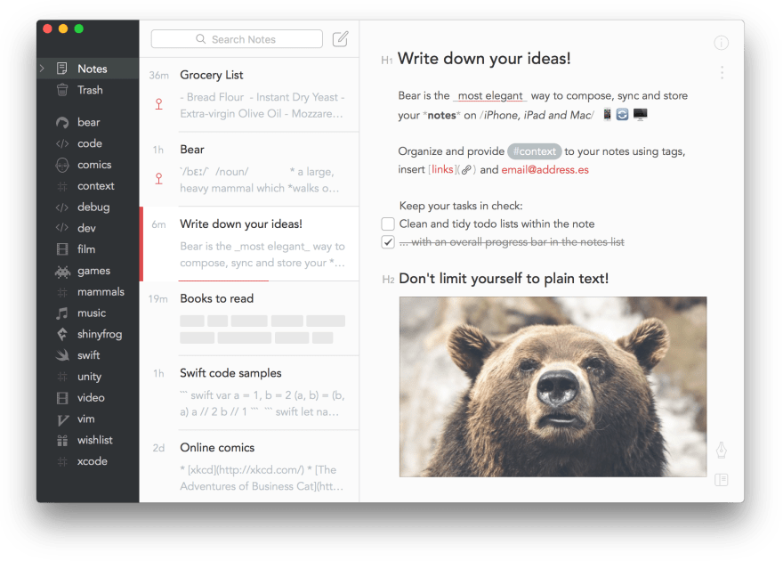 bear preview