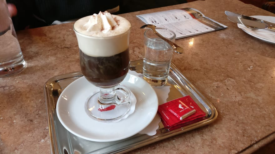 Melange coffee from Cafe Mozart