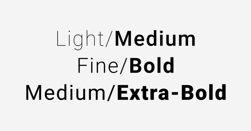 Font weights