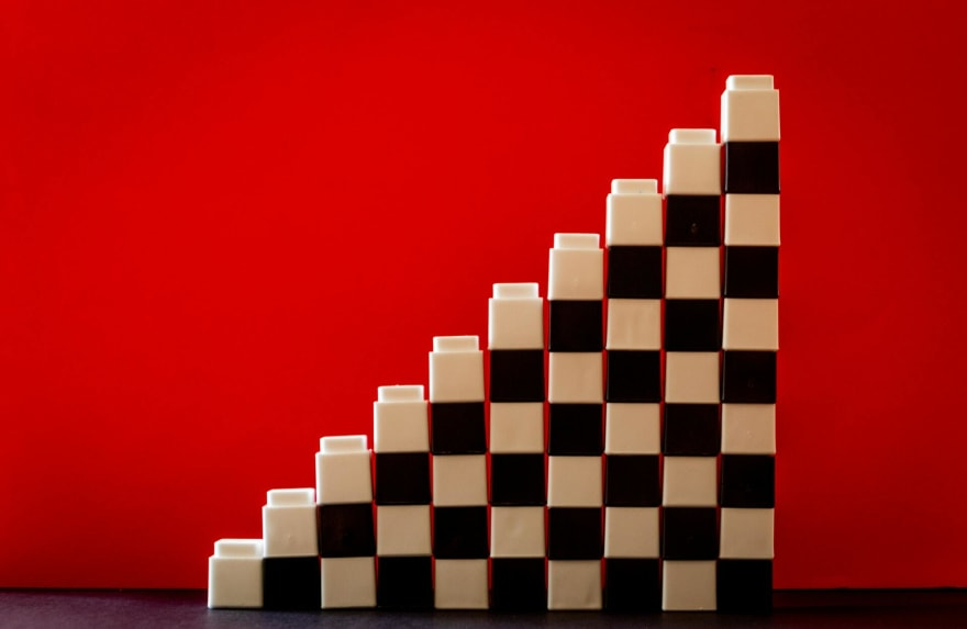 Building block stacked neatly
