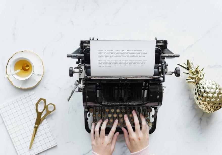 Typewriter and stationery