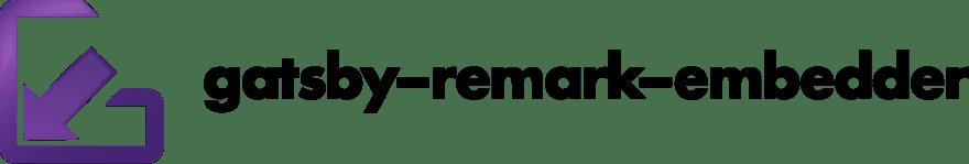 gatsby-remark-embedder logo