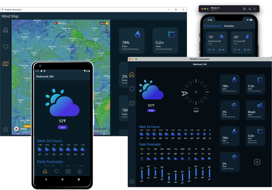 Weather Twenty One .NET MAUI Preview 4