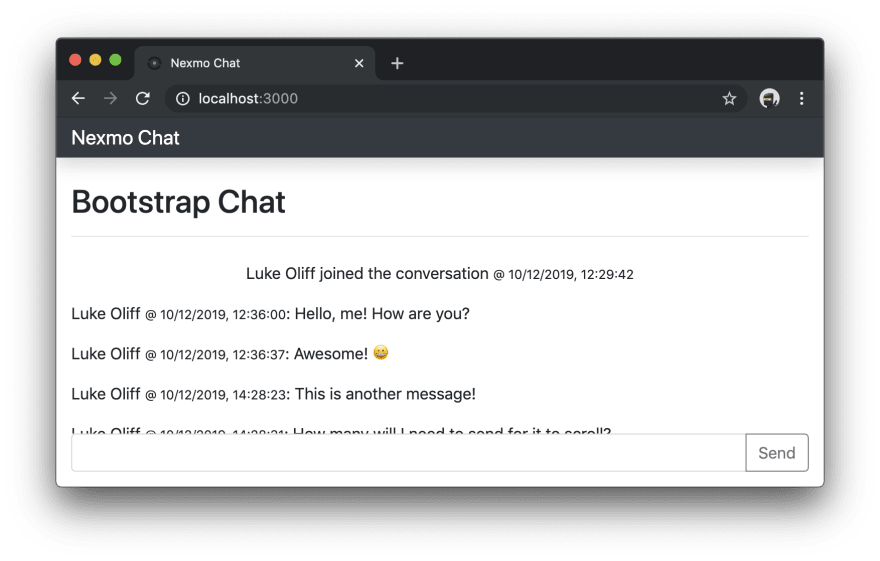 Chat application events now using line items